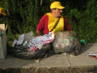 Volontario in azione presso Casamari